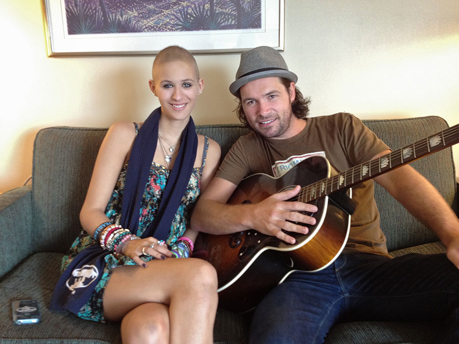 Michael Johns and Summer w guitar